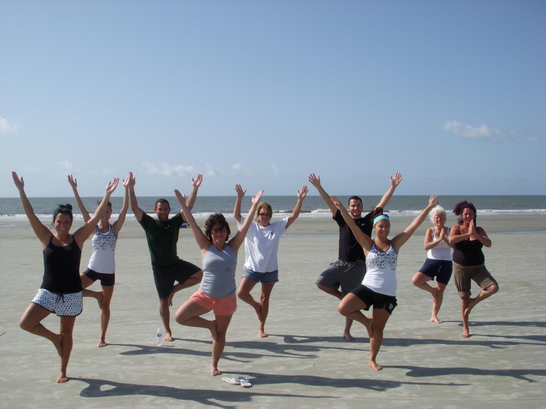 Beach Yoga Pose Yoga on The Beach | Hilton
